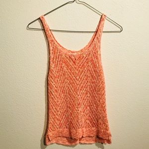 Pink and Orange Crocheted tank top